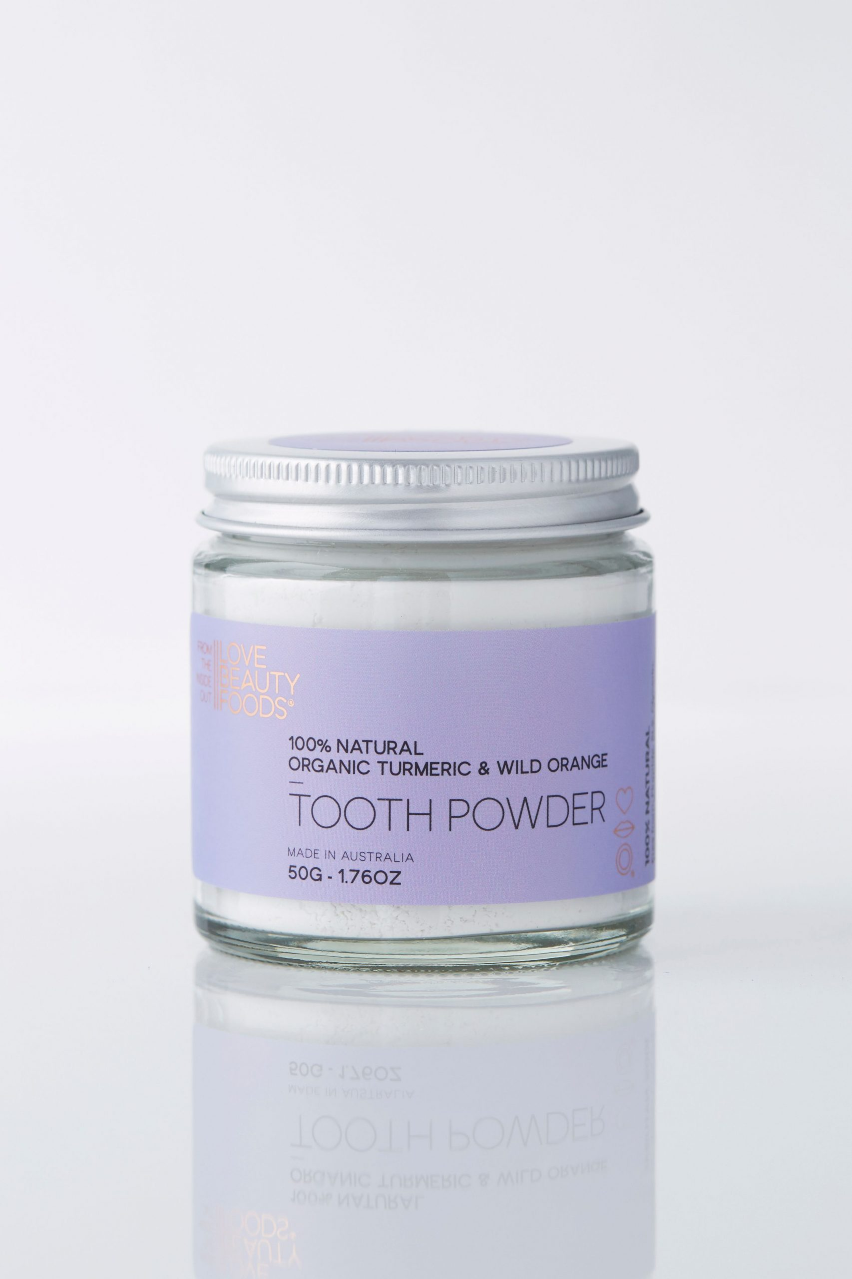 Turmeric and Orange Eco Toothpaste Powder - Blue and Sunny Sustainable Online Store